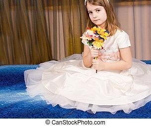 Beautiful little girl in a tutu