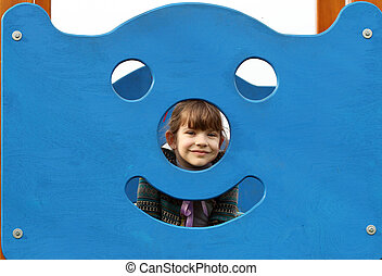 beautiful little girl on playground
