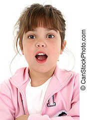 Beautiful Little Girl With Shocked Expression