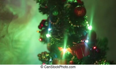 beautiful little glowing Christmas tree