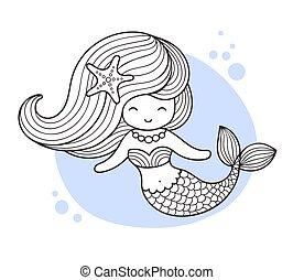 Beautiful little mermaid.