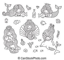 Beautiful little mermaids.