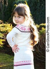Beautiful little portrait of girl