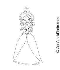 Beautiful little princess character