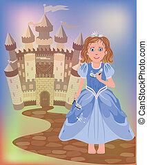 Beautiful little princess Cinderell