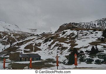 Beautiful Little Snow Mountains At The Ski Resort Aramon Cerler. Travel, Landscapes, Nature. December 27, 2014. Cerler, Huesca, Aragon.