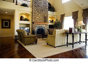 Beautiful stylish modern living room interior design