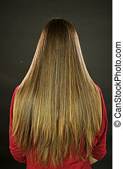 Beautiful long hair with split ends