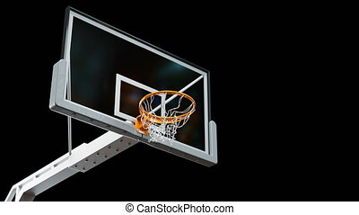 Beautiful Long Throw in a Basketball Hoop Slow Motion Camera...