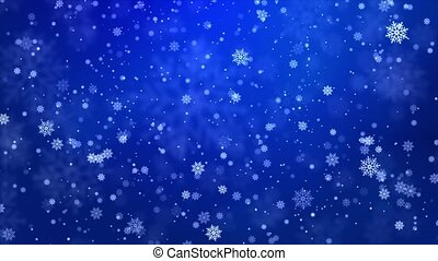 Beautiful Loopable abstract winter snow 4K background ...