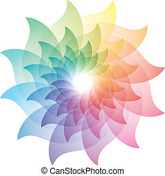 Beautiful Lotus Flower Color Wheel Icon.