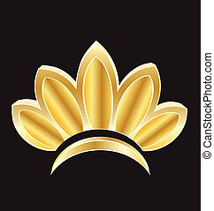 Beautiful lotus flower logo
