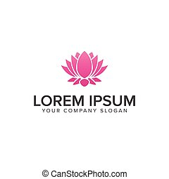 Beautiful lotus flower symbol. logo design concept template