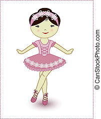 Beautiful lovely girl ballerina