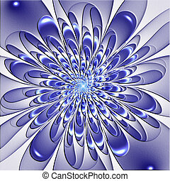 Beautiful lush flower with embossed effect. Artwork for creative design, art and entertainment.