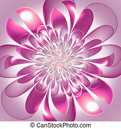 Beautiful lush fractal flower. Artwork for creative design, art and entertainment.