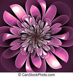 Beautiful lush fractal flower. Artwork for creative design, art and entertainment.