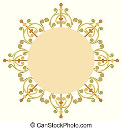 Beautiful luxury round frame, ornamental border