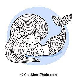 Beautiful lying mermaid.