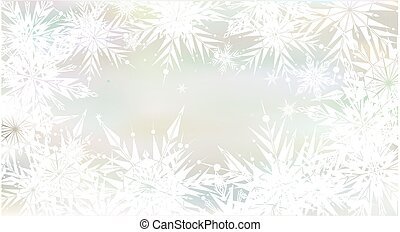 Christmas background with light snowflakes