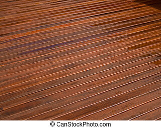 Beautiful mahogny hardwood deck floor - Beautiful design...