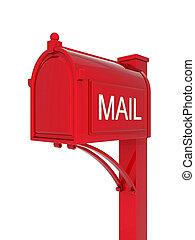 beautiful mailbox on white background