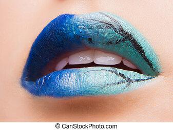 Beautiful make up on lips