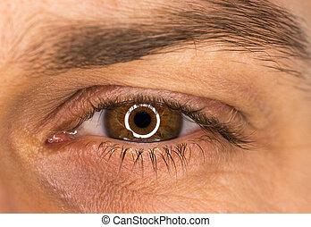 Beautiful male eye close-up
