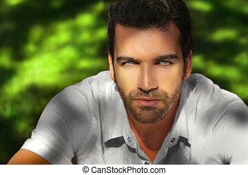 Beautiful man portrait