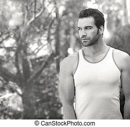 Beautiful man standing