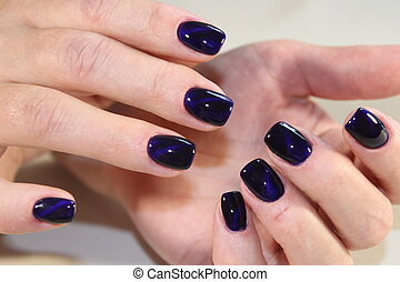 manicure gel with cat lacquer eye