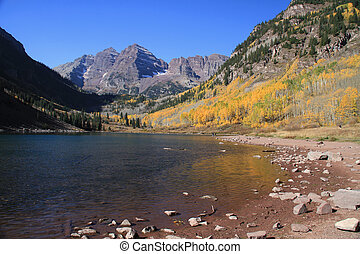 Beautiful Maroon Bells, in the Rocky Mountains of Colorado