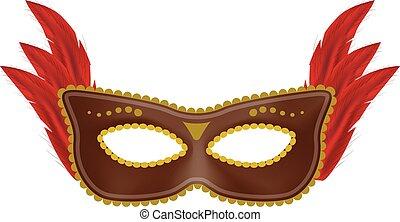 Beautiful mask mockup, realistic style