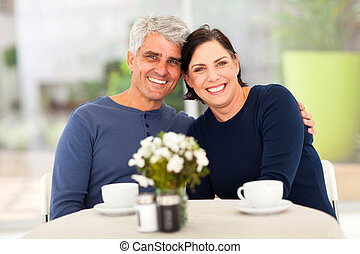 mature couple having tea