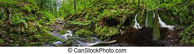 Beautiful Meander - Panoramic view of a beautiful creek...