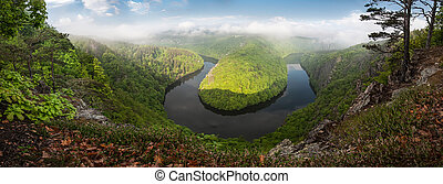 Beautiful Meander - Panoramic view of a beautiful river...