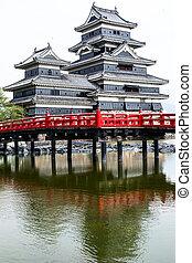Beautiful medieval castle Matsumoto in the eastern Honshu, ...