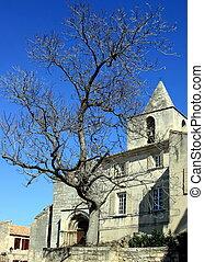 Beautiful medieval church in Les Baux de Provence - France