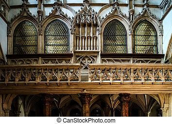 Beautiful medieval church interior, Salzburg