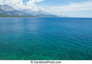 Mediterranean Sea with turquoise water