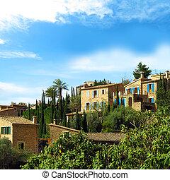 beautiful mediterranean village - stonehouses in the...
