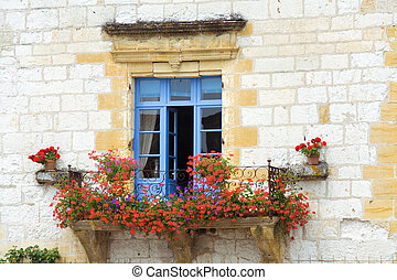 Window photographed in the Dordogne region of France