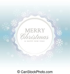 beautiful merry christmas background with snowflakes