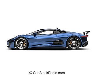 Beautiful metallic blue elegant sports car