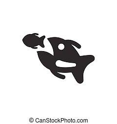Business Raccoon Fish Icon