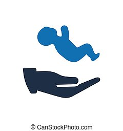 Baby Care Icon - Beautiful, Meticulously Designed Baby Care...