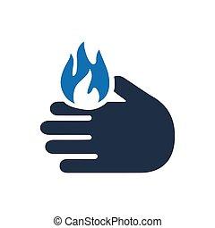 Burning Alert Icon