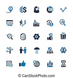 Business Icons - Blue Series (Set 1)
