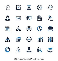 Business Icons - Blue Series (Set 4)