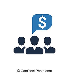 Financial Discussion Icon - Beautiful, Meticulously Designed...